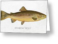 Rainbow Trout Greeting Card by Aged Pixel