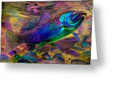 Rainbow Trout Greeting Card by Sara Alexander Munoz