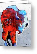 Rainbow Warrior Bison Greeting Card by Joe  Triano