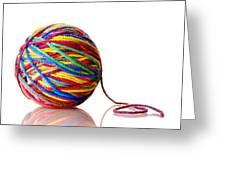 Rainbow Yarn Greeting Card by Jim Hughes