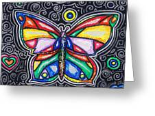 Rainbows And Butterflies Greeting Card by Shana Rowe