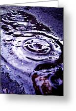 Raindrop Greeting Card by Lucy D