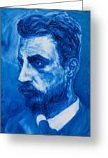 Rainer Maria Rilke Greeting Card by Sviatoslav Alexakhin