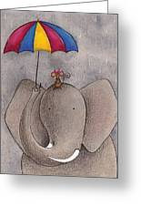 Rainy Day Greeting Card by Christy Beckwith