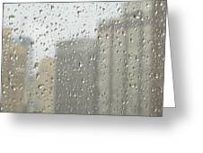 Rainy Day City Greeting Card by Ann Horn