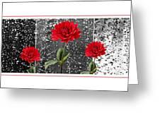 Rainy Day Dahlias Greeting Card by Natalie Kinnear