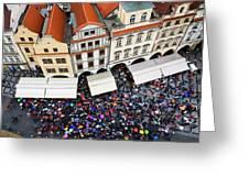 Rainy Day In Prague-1 Greeting Card by Diane Macdonald