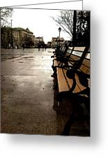 Rainy Day Greeting Card by Lucy D