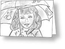 Rainy Day Smile Greeting Card by Elizabeth Briggs