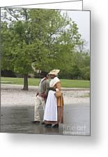 Rainy Day Walk Greeting Card by Teresa Mucha