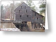 Rainy Yates Mill Greeting Card by Kevin Croitz