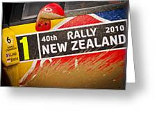 Rally New Zealand Greeting Card by motography aka Phil Clark