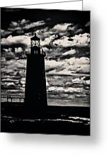 Ram Island Ledge Light Greeting Card by Karol  Livote
