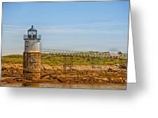 Ram Island Lighthouse Greeting Card by Karol  Livote