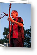 Randy Reis On Bass - The Fabulous Kingpins Greeting Card by David Patterson