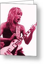Randy Rhoads At Day On The Green In Oakland Ca Greeting Card by Daniel Larsen