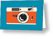 Rangefinder Film Camera Greeting Card by Igor Kislev