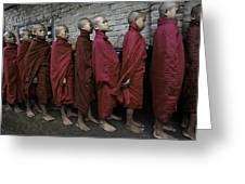 Rangoon Monks 1 Greeting Card by David Longstreath