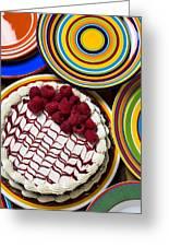 Raspberry Cake Greeting Card by Garry Gay
