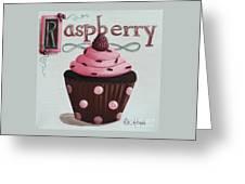 Raspberry Chocolate Cupcake Greeting Card by Catherine Holman