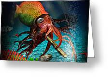Rasta Squid Greeting Card by Alessandro Della Pietra