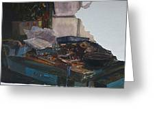 Rat Damage Greeting Card by Terry Perham