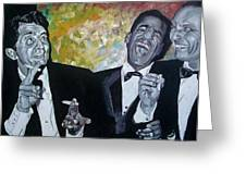 Rat Pack Greeting Card by Jeremy Moore