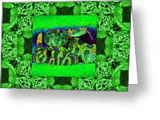 Rattlesnake Abstract Window 20130204p75 Greeting Card by Wingsdomain Art and Photography