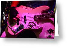 Raunchy Guitar Greeting Card by Bob Christopher