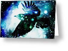 Raven Greeting Card by Anastasiya Malakhova