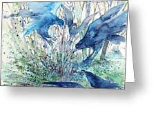 Ravens Wood Greeting Card by Trudi Doyle
