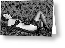 Ravishing Romance - Self Portrait Greeting Card by Jaeda DeWalt
