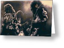 Raw Energy Of Led Zeppelin Greeting Card by Daniel Hagerman