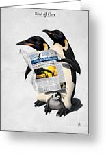 Read All Over Greeting Card by Rob Snow