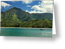 Ready To Sail In Hanalei Bay Greeting Card by James Eddy
