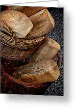 Real Bread Greeting Card by Odd Jeppesen