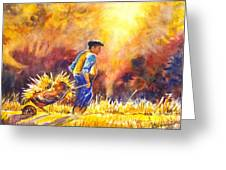 Reaping The Seasons Harvest Greeting Card by Carol Wisniewski