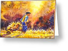 Reaping The Seasons Harvest Greeting Card by Carol Wisniewski