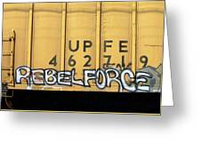 Rebel Force Greeting Card by Donna Blackhall