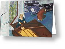 Recital Rehersal Greeting Card by Betty Compton