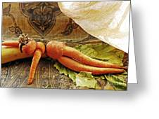 Reclining Nude Carrot Greeting Card by Sarah Loft
