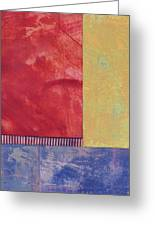 Rectangles - Abstract -art  Greeting Card by Ann Powell