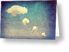 Recycled Clouds Greeting Card by Amanda And Christopher Elwell