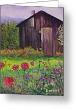 Red And Pink Flowers Greeting Card by Denise Wagner