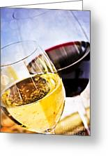 Red And White Wine Greeting Card by Elena Elisseeva