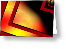 Red Angle With Yellow Greeting Card by Mario  Perez