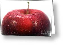 Red Apple Top Greeting Card by John Rizzuto