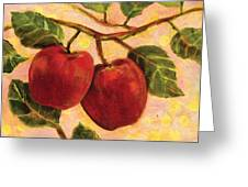 Red Apples On A Branch Greeting Card by Jen Norton