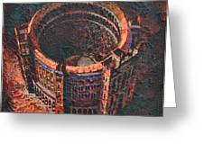 Red Arena Greeting Card by Mark Howard Jones