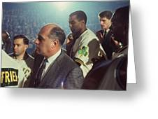 Red Auerbach Boston Celtics Legend Greeting Card by Retro Images Archive